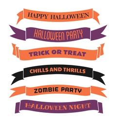 Halloween Decorative Banners Set vector image