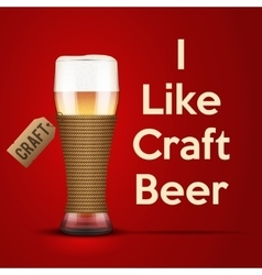 I like Craft beer vector