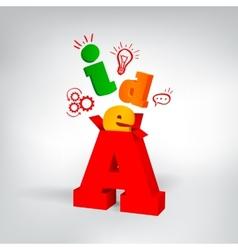 Idea 3d letters vector