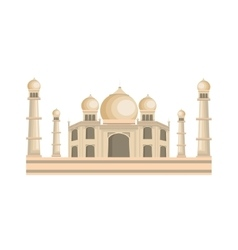 Indian landmark building icon vector