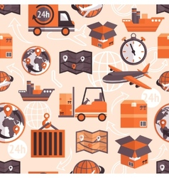 Logistic seamless pattern vector image