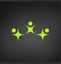 Logo of adult and child family or happy people vector