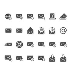 mail envelope silhouette icon email inbox vector image