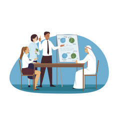 management meeting discussion business concept vector image