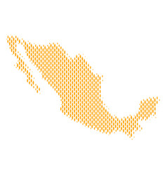 Mexico map population people vector