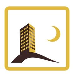 night city icon design vector image