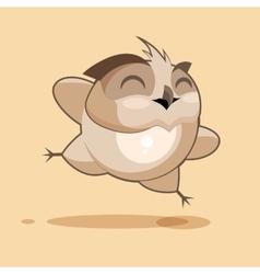 Owl is rejoices vector