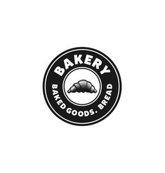 pastries vintage bakery shop logo designs vector image