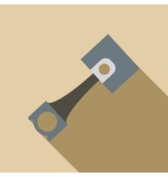 Piston icon flat style vector