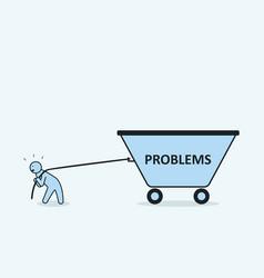 Problem concept vector