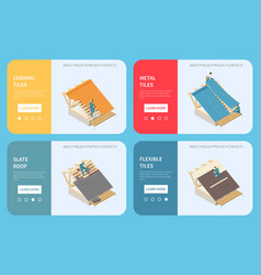 Roofer isometric concept vector