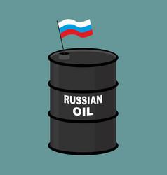 russian barrel oil russia petroleum business vector image