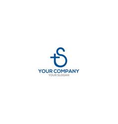 s church logo design vector image
