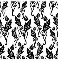 seamless background vintage floral elements vector image