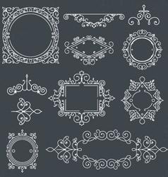 Set of Vintage Frames for Luxury Logos for cafe sh vector image