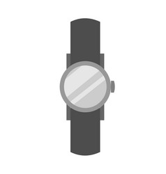 simple casual wristwatch vector image
