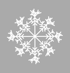 Snowflake isolated icon and sign design on grey vector