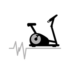 Static bike machine gym rate background icon vector