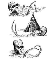 Stone age caveman or troglodyte vector