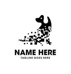 technology dog logo design vector image