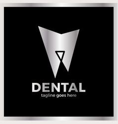 teeth line logo vector image