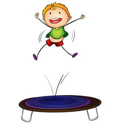 Trampoline kid vector