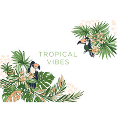 tropical floral summer party vector image