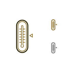 Tthermometer icon vector