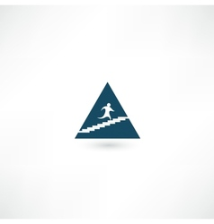 Up pyramid icon vector