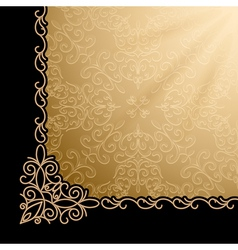 Vintage gold corner background vector image
