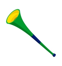 Vuvuzela trumpet icon cartoon style vector