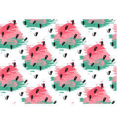 Watercolor seamless pattern of watermelon vector