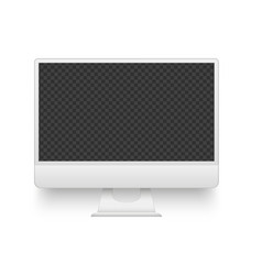 white pc screen mockup electronics device vector image