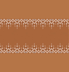 Wide background for holiday design winter knitted vector
