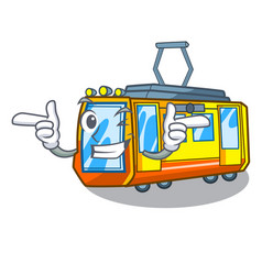 Wink electric train isolated with cartoon vector