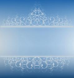 blue banner vector image