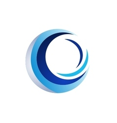 circle elements logo sphere symbol icon design vector image