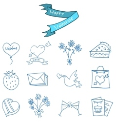 Element of valentine day icons vector image