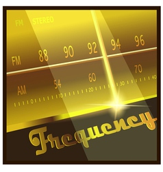 frequency vector image vector image