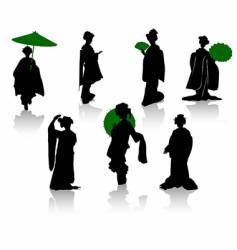 japan dance vector image vector image