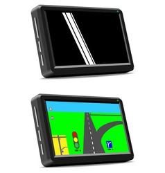 Modern auto GPS navigation system vector image