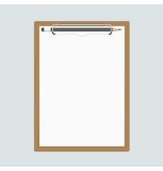 Realistic clipboard with paper and pencils vector image