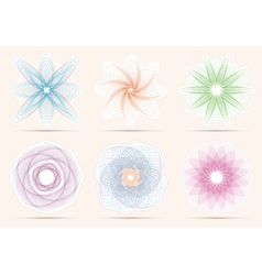 Spirograph ornament collection vector image
