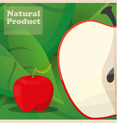 apple natural product poster design vector image vector image
