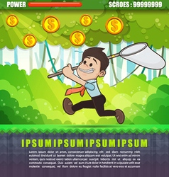 Businessman catch the money vector image vector image