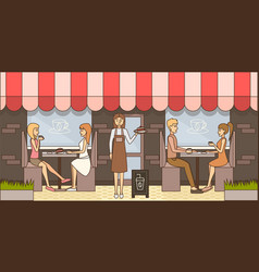 coffee time concept in flat vector image vector image