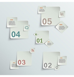 Make your choice - paper stickers vector image vector image