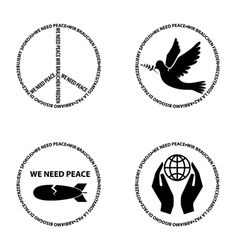 we need peace22 vector image