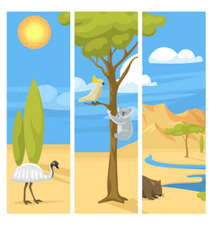 australia wild background landscape animals vector image