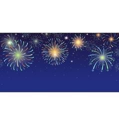 Festive banner with bright colorful firework vector image vector image